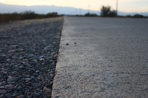 asphalt used for road surface